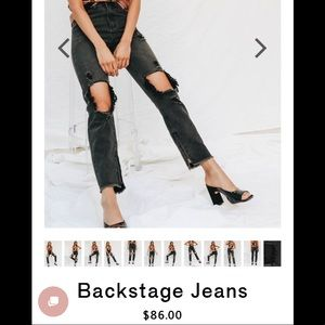 c27c329b2 Verge Girl Black Washed High Waisted Mom Jeans